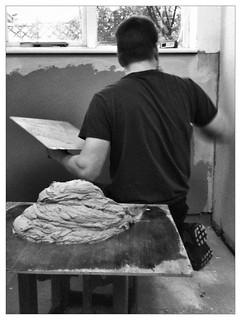 Ed's doing a bit of Christmas plastering. | by Claire Sutton