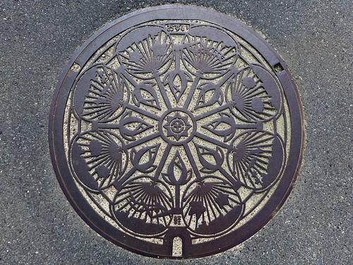 Okayama city Okayama pref, manhole cover 6 (岡山県岡山市のマンホール6)