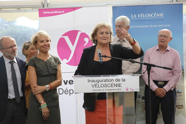 Inauguration de la Véloscénie à Chevreuse