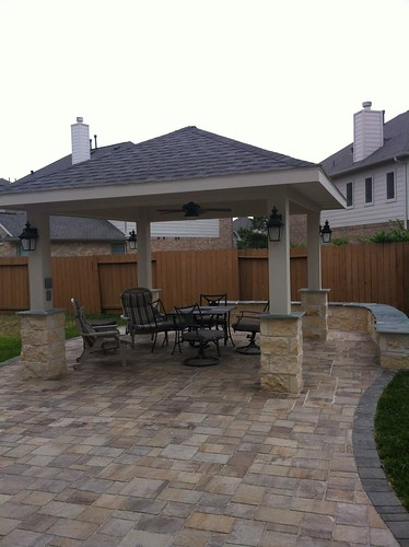 pergola project in pearland tx by texas custom patios