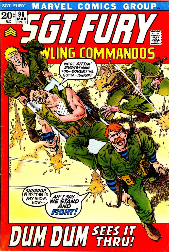 SgtFury 96 cover Gil Kane John Severin 1972
