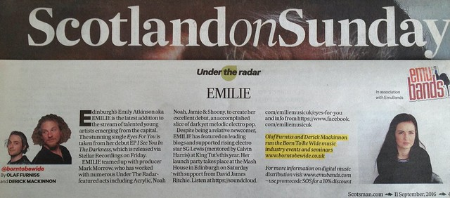 Scotland On Sunday, 11 September 2016, Emilie