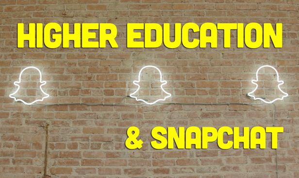 Higher education is all over Snapchat
