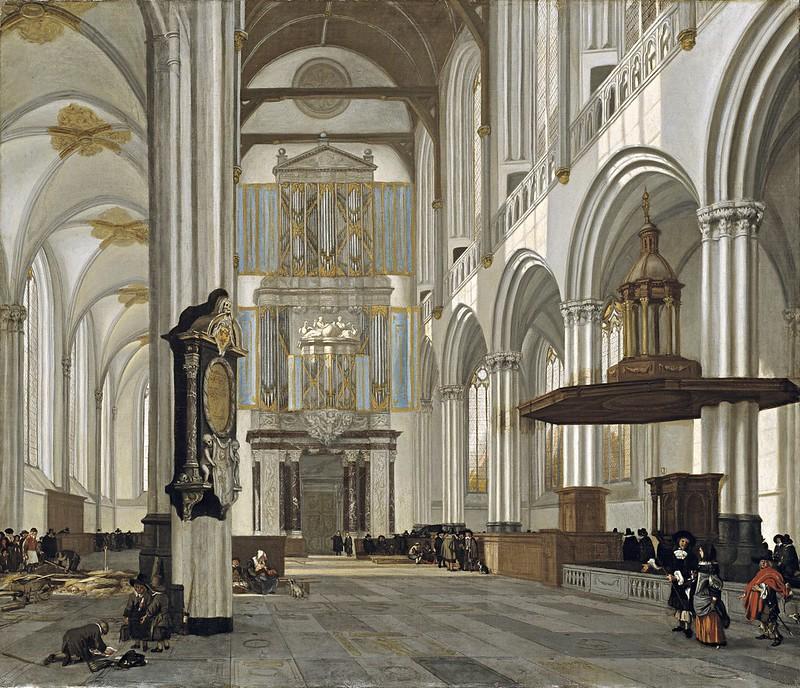 Emanuel de Witte - Interior of the Nieuwe Kerk, Amsterdam (1657)