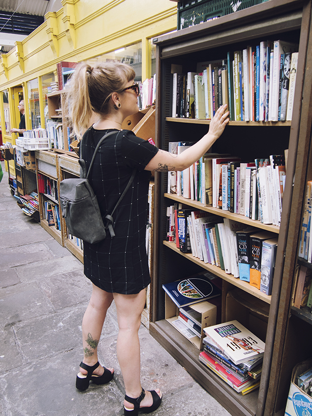 being little: bristol city guide - st nicks market boohoo dress backpack outfit