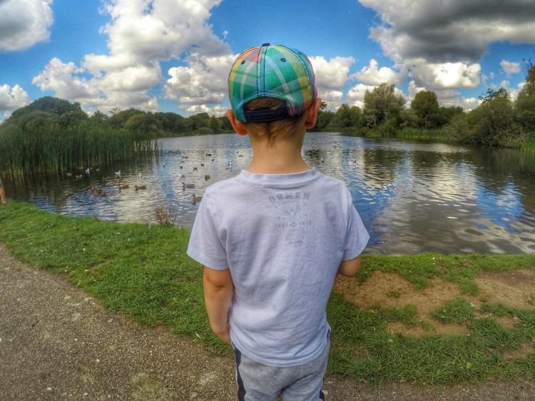 Summer snaps lake