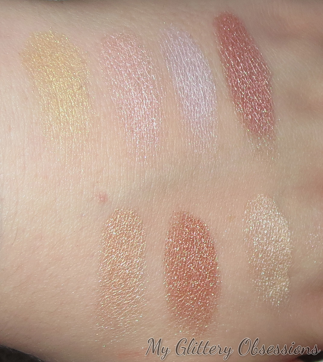 NYX Strobe of Genius swatches