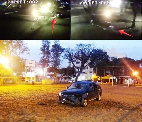 acidente carro praça