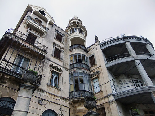 An older building in Ribadeo in Northern Spain