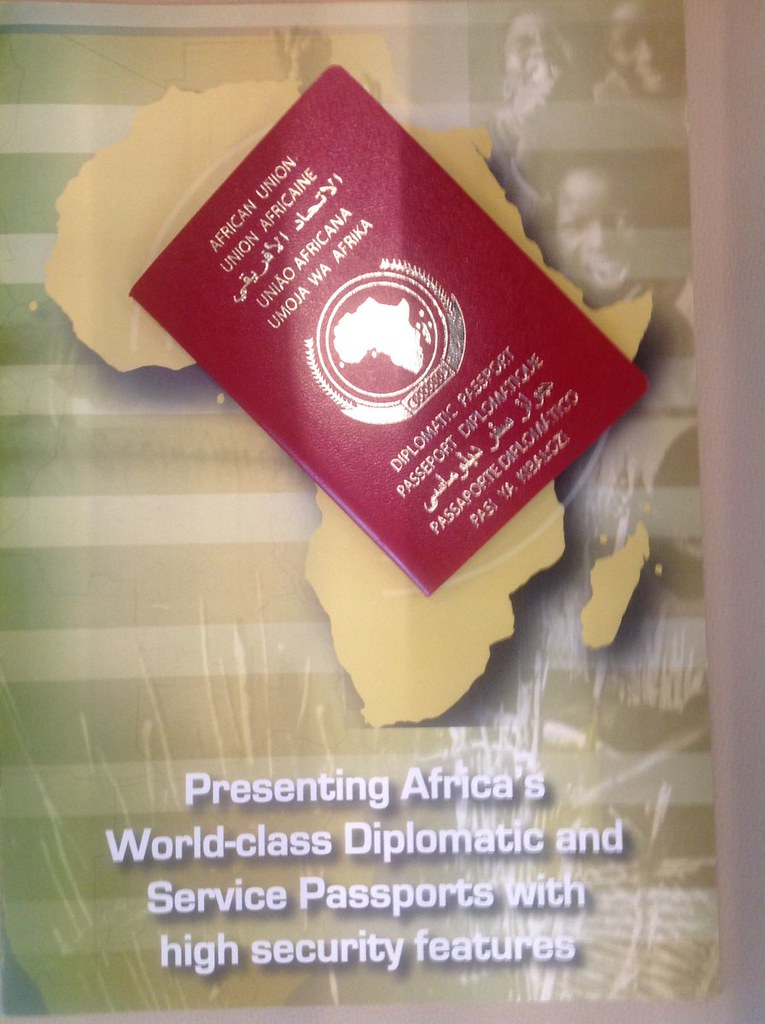 Picture of historic AU Passport