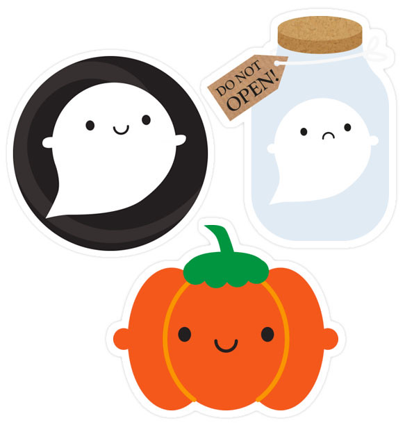 Halloween stickers at Redbubble