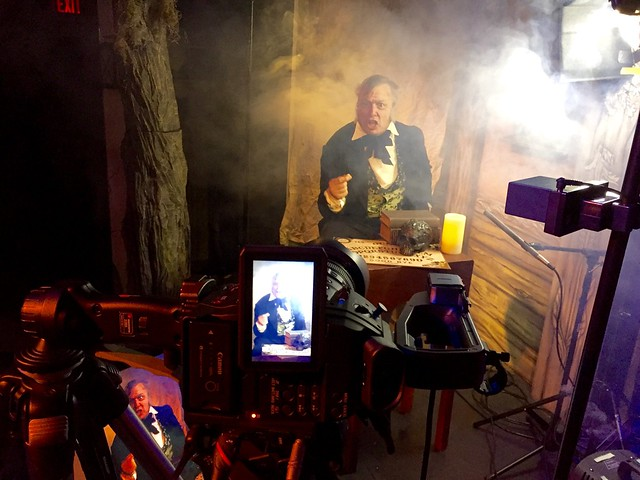 An urgent warning. Filming a project for the new Lost Museum in Salem, MA. Coming soon! #bts #videoproduction #scary