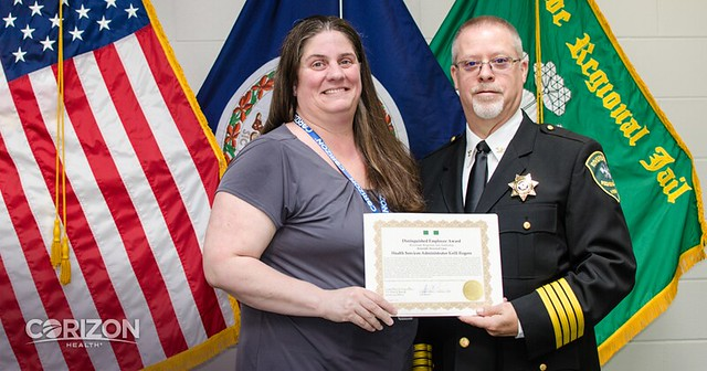 Health Services Administrator honored twice at Riverside Regional Jail, Virginia