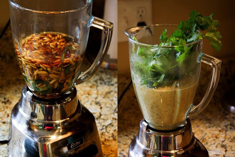 Salsa Verde de Pepitas Process2
