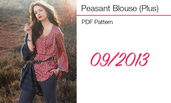 peasant plus blouse