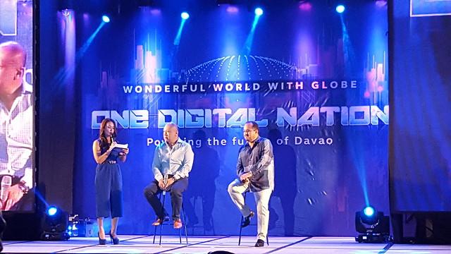 Globe CEO Ernest Cu & CFO Albert De Larrazabal | Davao Photos & Videos: Wonderful World With Globe as One Digital Nation Powering the Future of Davao - DavaoLife.com