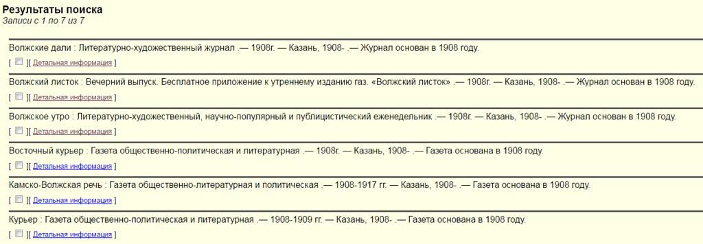 1908. Запрос по периодике КГУ