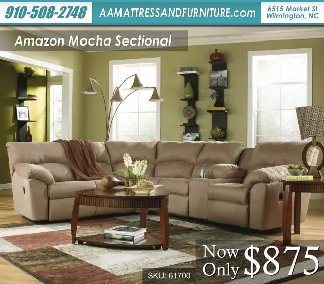 Amazon Mocha Sectional W