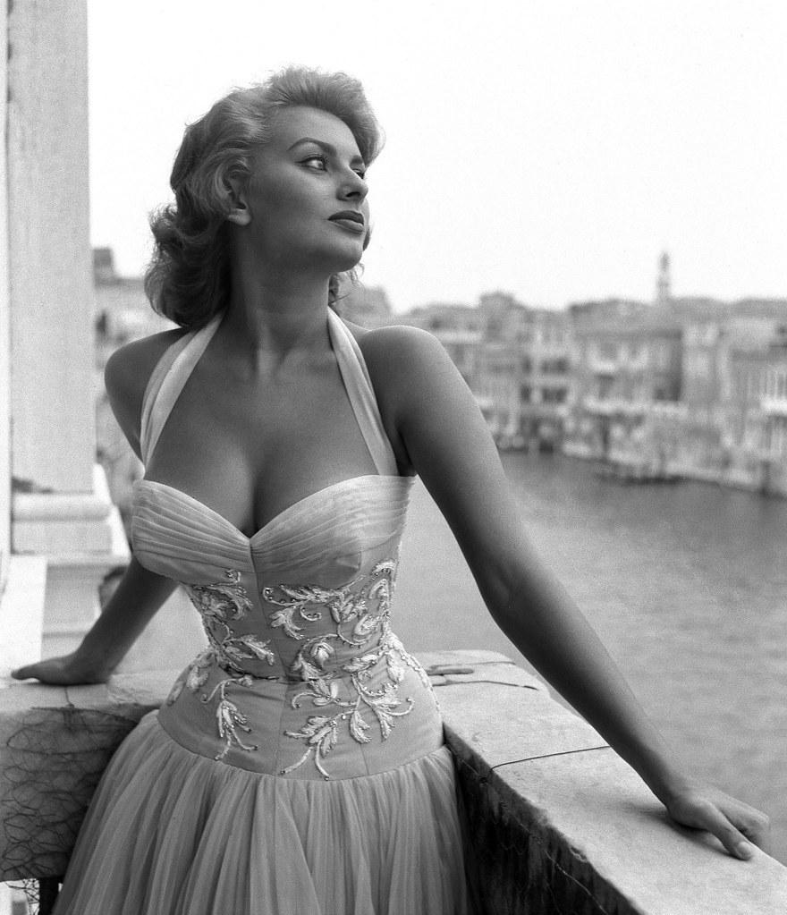 Софи Лорен в Венеции. 1955 год