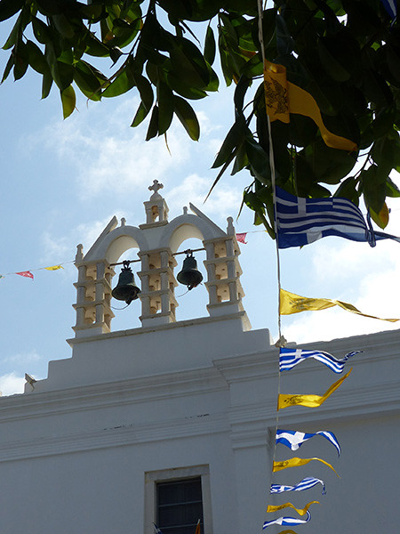 clocher d ela cathédrale de Paros