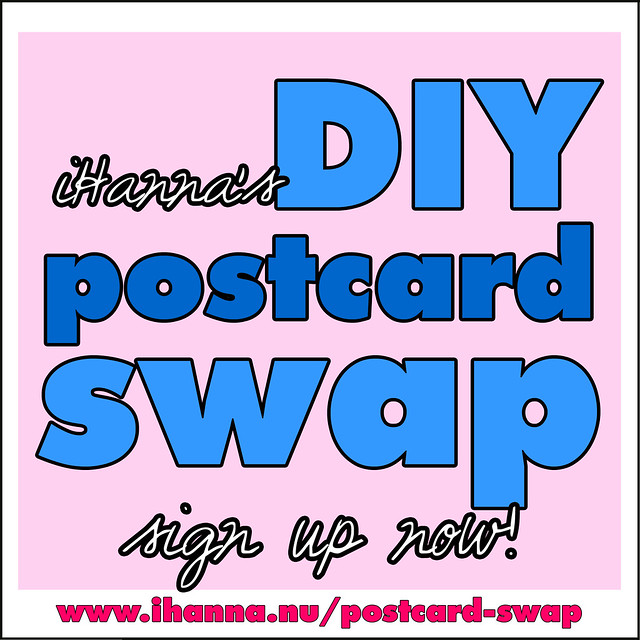 DIY Postcard Swap - sign up now!  #diypostcardswap #DIY via @ihannas