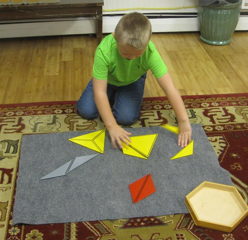 making shapes with triangles