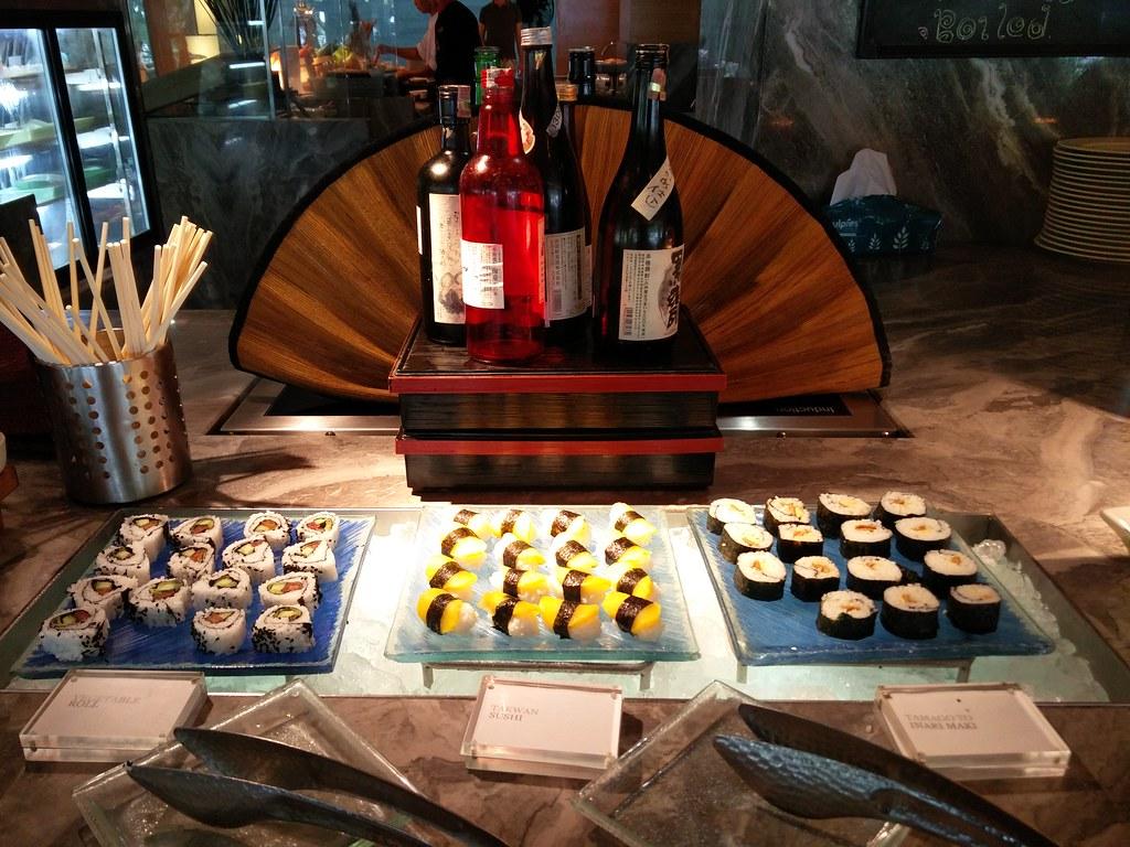 Sushi on display