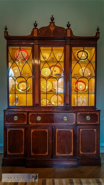 White House China Cabinet in the Family Dining Room