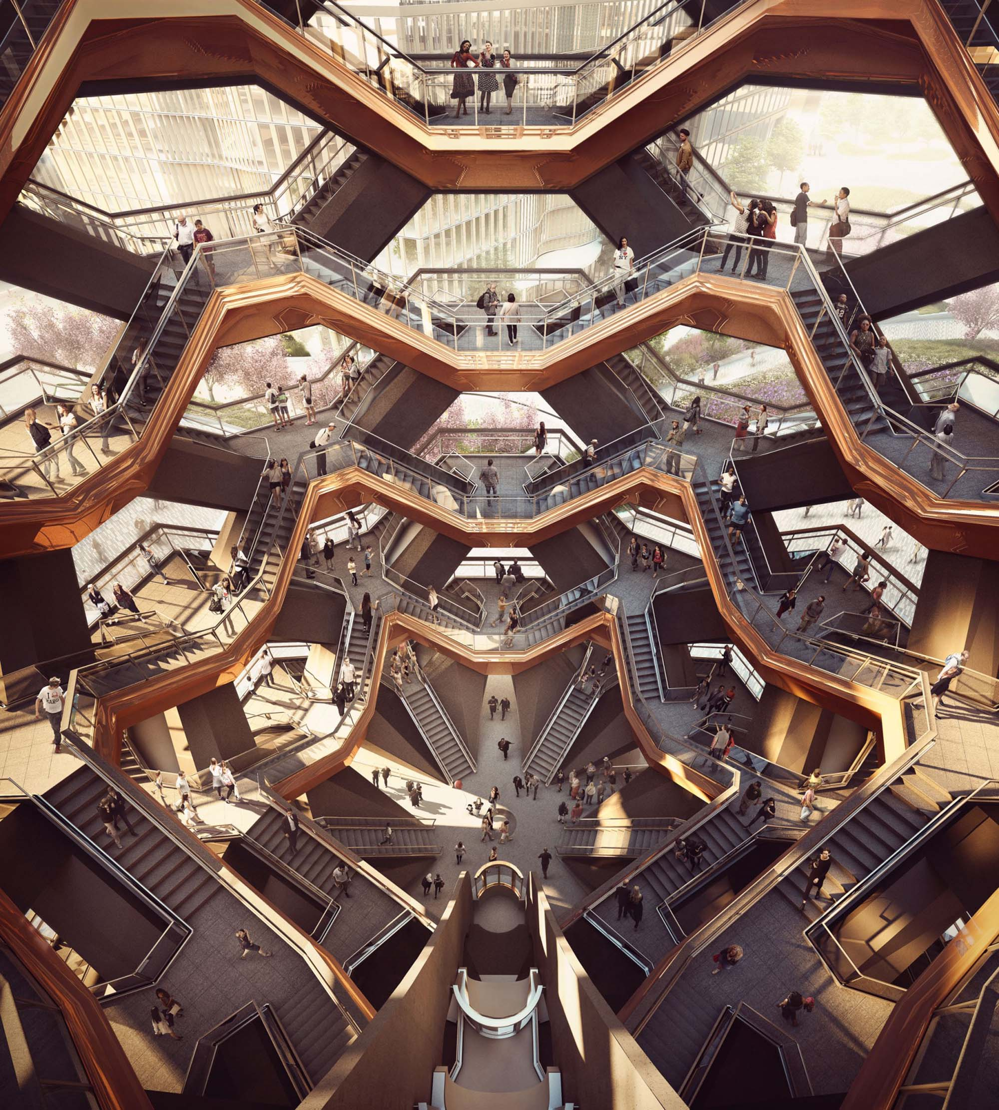 Vessel design by Heatherwick Studio