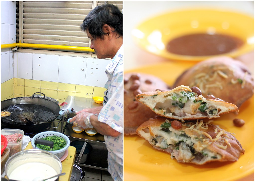 Fu Zhou Poh Hwa Oyster Cake: Mr Tan Frying