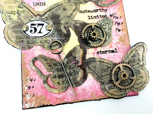 Meihsia Liu simply paper crafts Mixed Media Tag Butterfly 3
