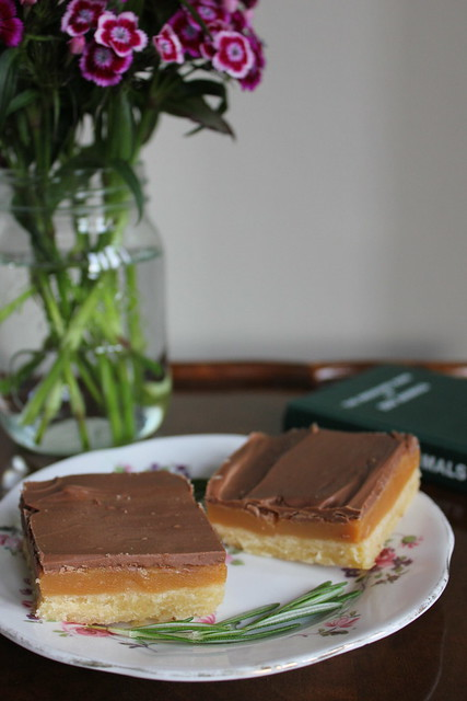 Rosemary sea salted caramel shortbread