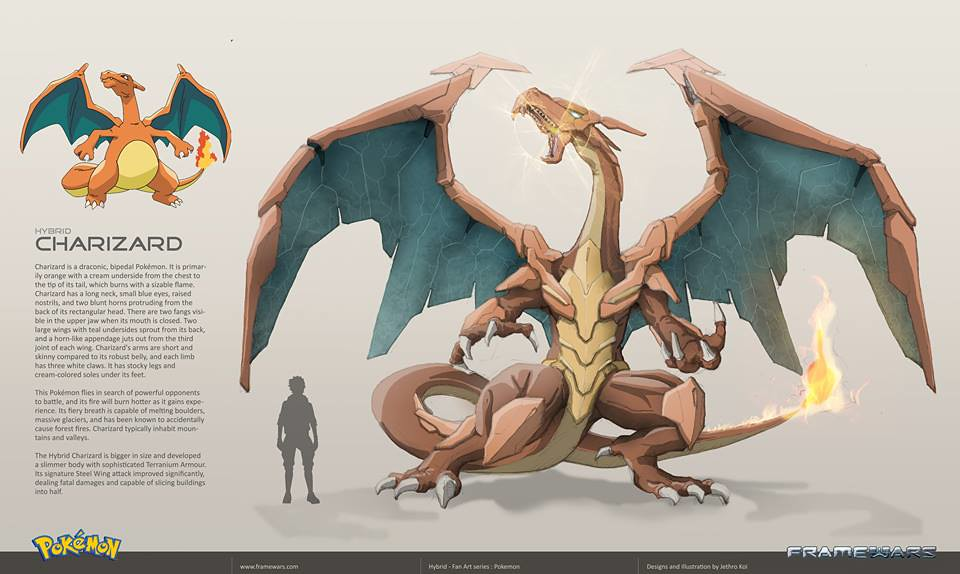 Metal Hybrid Pokemon - Charizard - by Frame Wars
