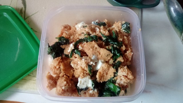 Harissa Couscous with Spinach & Feta