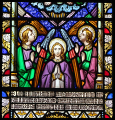 three angels praying (William Wailes, 1860)
