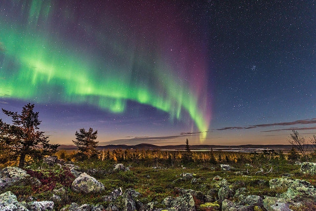 Autumn Auroras Finland Lapland