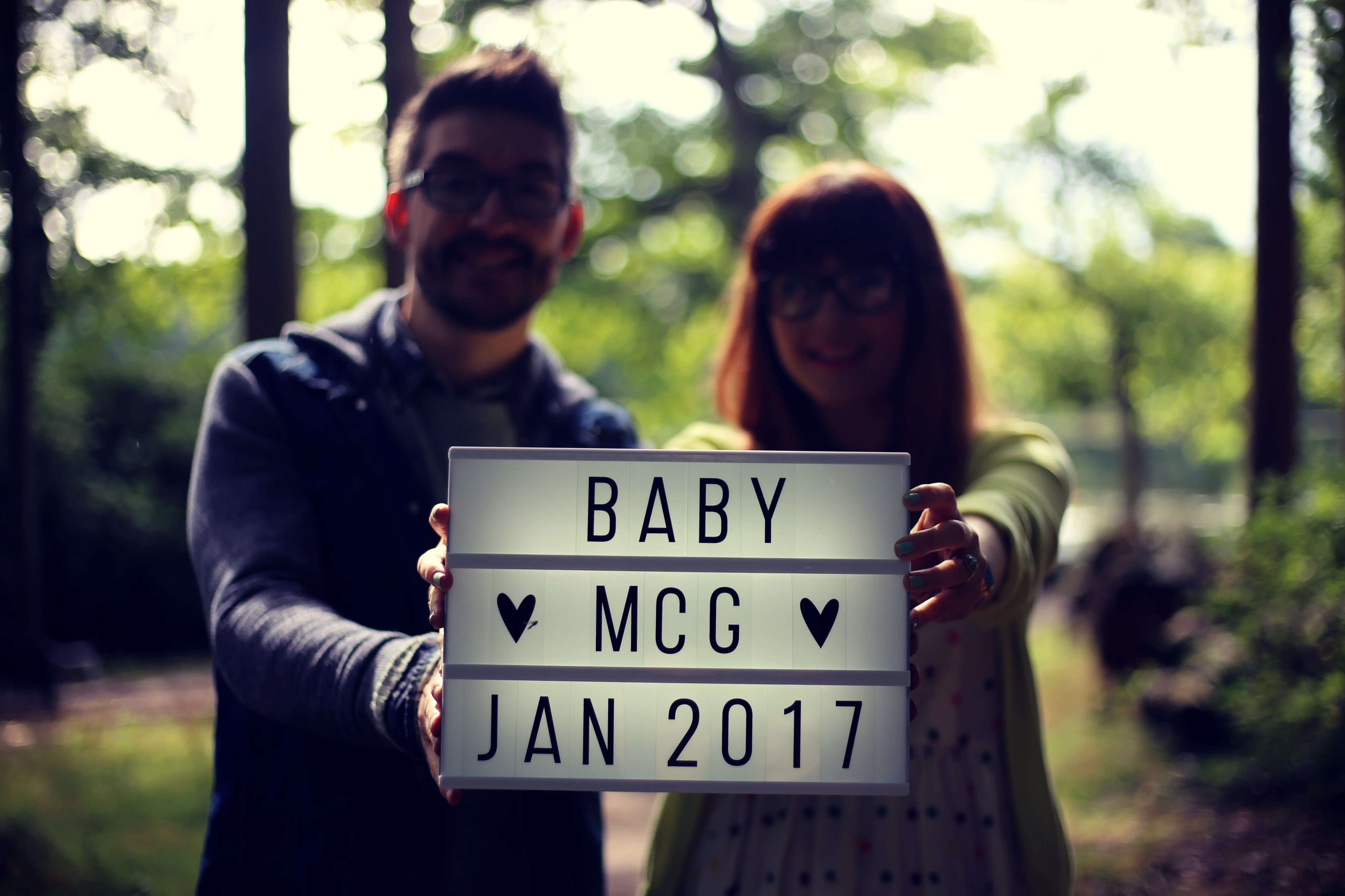 magpie girl baby annoucement
