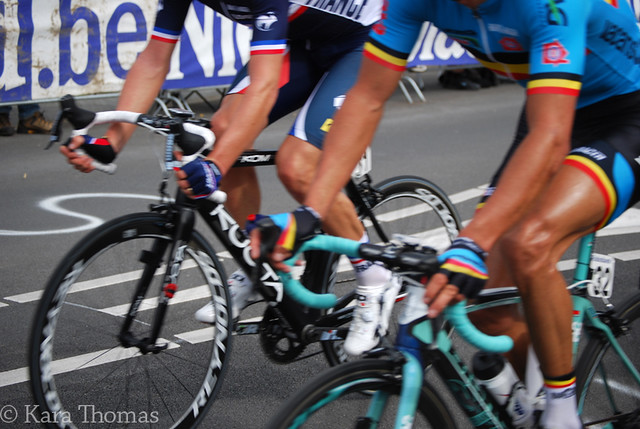 Cyclist tans