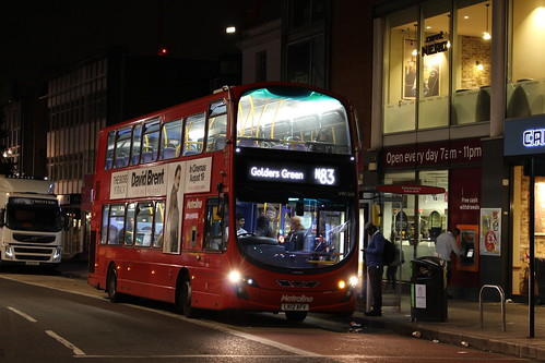 Metroline West VW1268 on Route N83, Ealing Broadway