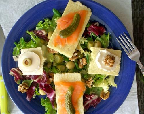 salade au saumon fumé sans gluten