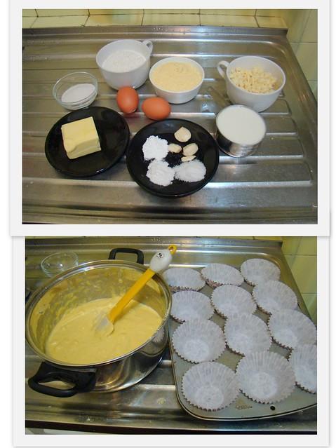 Muffin Salgado de Fubá e Queijo