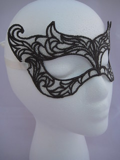 Eggshell and Charcoal Custom Mask | by MissAdenine