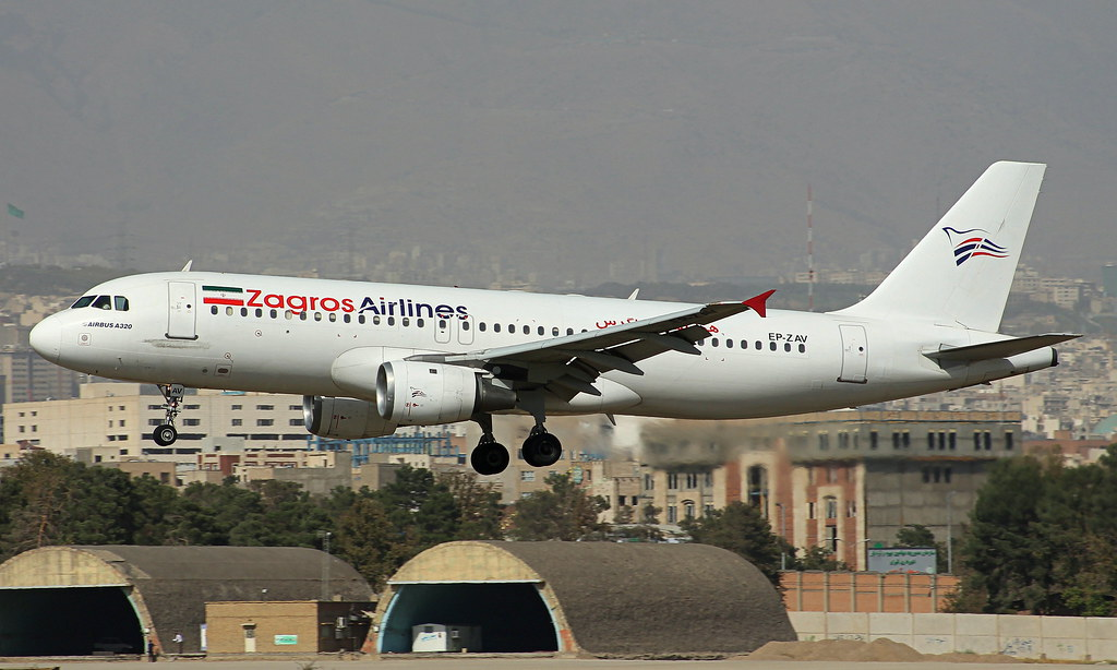 Zagros Airlines # A320-200 # EP-ZAV # THR/OIII # 15-09-2016