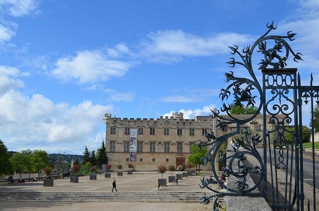 Place du Palais scrollwork gate in front of Musée Du Petit Palais Avignon
