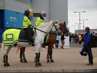 Police Horses at the Cardiff City Stadium | by joncandy