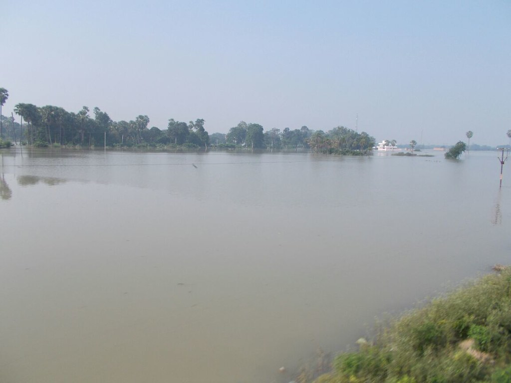 Flood at Revalganj, Chapra District (Bihar)