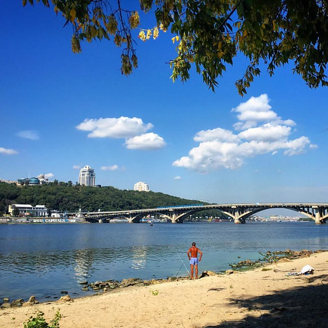 #киев #гидропарк #украина #ukraine #kyiv #travel #sky #summer #river #dnipro #днепр #дніпро