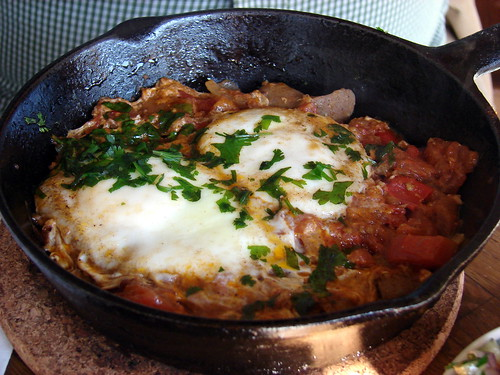 Mike's shakshuka, at Mimi's | by Jenblossom