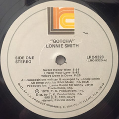 LONNIE SMITH:GATCHA'(LABEL SIDE-A)