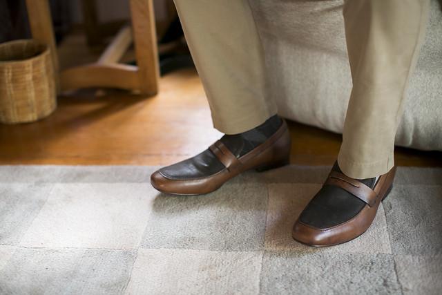 WG Well-Groomed Groom ShanBrandon 3 Shoes Socks